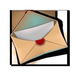 Brief Offen Kontakt Wachssiegel